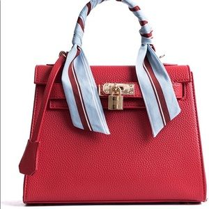 Red Top-Handle & Crossbody Purse